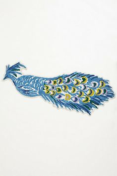 Silhouetted  Peacock Bathmat     #anthropologie