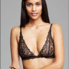 Calvin Klein Bralette Calvin Klein black lace Bralette. First picture is not actual piece, just similar. Size 32 C. Hardly worn, cleaned. Calvin Klein Intimates & Sleepwear Bras