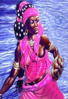 Ọba's themes are protection, manifestation, movement, energy, restoration and flexibility. Her symbols is water.  Ọba, is the Nigerian and Santarian Goddess of rivers, which figuratively represents the flow of time and life. Turn to Her for assistance in learning how to 'go with the flow', or when you need to inspire some movement in sluggish projects or goals.