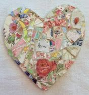 HEART and HOME by Susan Jenkins...I REALLY DO WANT THIS MOSAIC HEART!!! Guess I'll be going on a search for anything in these colors! <3