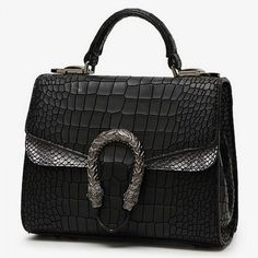 Europe Style Vintage Crocodile Grain Totes Bag Street Casual Shoulder... ($18) ❤ liked on Polyvore featuring bags, handbags, shoulder bags, vintage crocodile handbags, vintage tote, crocodile purse, vintage shoulder bag and croc tote