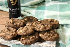 Guinness Chocolate Chip Cookies - Sweet and Spicy Monkey Chocolate Cookie Dough, Chocolate Chip Cookies, Guinness Chocolate, Drop Cookies, Recipe Community, White Chocolate Chips, Unsweetened Cocoa, How To Make Cookies, Sweet And Spicy
