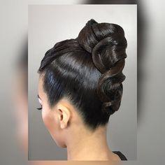 Dance Hairstyles, Braided Hairstyles Updo, Hairstyles With Bangs, Wedding Hairstyles, Updo Hairstyle, Quinceanera Hairstyles, Ballroom Dance Hair, Ballroom Wedding, Bleached Hair Repair