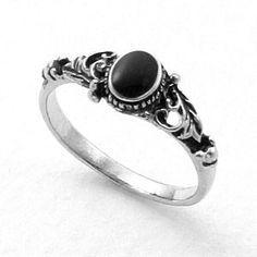 Antique Black Stone Ring ♥