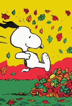 SNOOPY FALL FUN Flag: Snoopn4pnuts.com