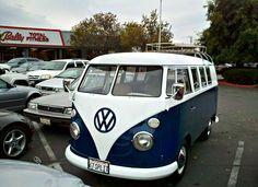1967 split window bus that caught my eye entering the store parking lot.