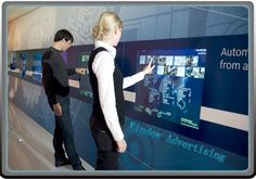 interactive glass wall screen