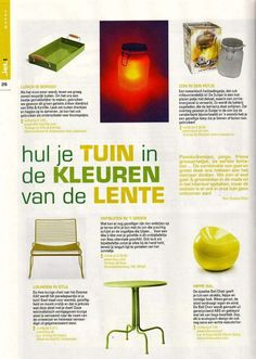 Our ball chair makes another media appearance - Jet! Magazine (in Dutch)
