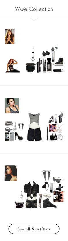 """""""Wwe Collection"""" by lexie-tommo ❤ liked on Polyvore featuring WWE, Converse, Dolce&Gabbana, Bare Escentuals, Gorgeous Cosmetics, Bobbi Brown Cosmetics, Kate Marie, BKE core, BB Dakota and River Island"""