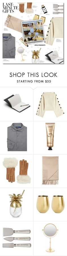 """#PolyPresents: Last-Minute Gifts"" by just-chris ❤ liked on Polyvore featuring Bellroy, Petar Petrov, Polo Ralph Lauren, Jo Malone, UGG, Sofiacashmere, True Fabrications, Zodiac, contestentry and polyPresents"