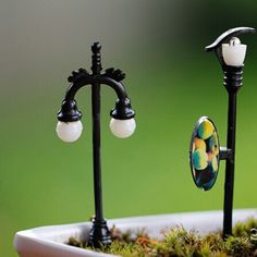 Mini Model Lights Landscape Ornaments Simulation Light DIY Craft Bonsai Garden Decoration Accessory Succulent Plants Adornment