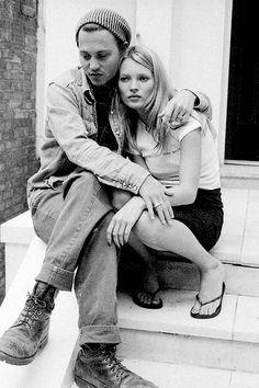 Johnny Depp and Kate Moss photographed by Linda McCartney