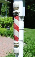 Antique Trade Sign Wooden Barbers Barber Shop Pole Sign Old Vintage Early Type