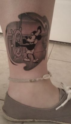 """fuckyeahtattoos: """" Steamboat Willie done by Steve at Hurricane Tattoo in New Port Richey, FL """""""