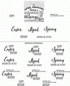 PTI Birthday Classics: April Mini Stamp Set 2791