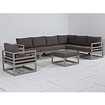 Life Fabri loungehoek tuinset 8-delig Taupe van Life Outdoor Living Outdoor Sectional, Sectional Sofa, Outdoor Furniture, Outdoor Decor, Taupe, Outdoor Living, Home Decor, Beige, Modular Sofa