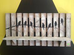 bird pallet shelf