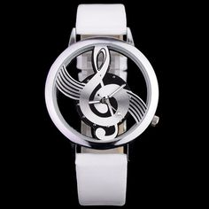 This product is quartz movement watch with special musical note for dial. It adopts pu leather treated as wristband. Excellent quality and reasonable price. Product Description  Features: * Name of item:Wristwatch * New brand PU leather  band * PU leather  band * Musical note as dial * ...