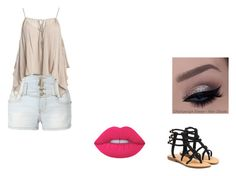"""""""Untitled #10"""" by imcrazyisthatokay on Polyvore featuring LE3NO, Sans Souci, Lime Crime and Mystique"""