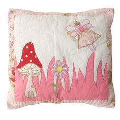 Fairy patchwork cushion