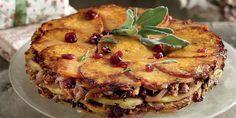 Τούρτα κολοκύθας-πατάτας με κράνμπερι και καρύδια Party Buffet, Recipe Images, Salmon Burgers, Quiche, Vegan Recipes, Toast, Breakfast, Ethnic Recipes, Food