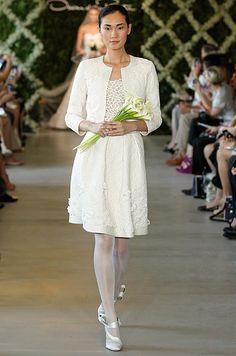 Oscar de la Renta short wedding dress with jacket, or mother of the bride, Spring 2013