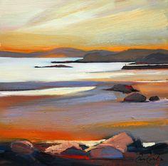 Carsaig Bay, Argyll - Pam Carter, oil on canvas, 50 x 50 cm, £2600. #11234