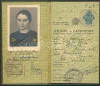 1939 Magyar Királysági fényképes útlevél nagyon szép állapotban birodalmi bélyegzésekkel | axioart.com