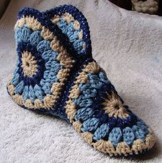 Delicadezas en crochet Gabriela: Pantuflas
