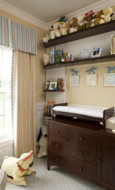 Changing table for twins gorgeous changing table topper in nursery traditional with gender neutral nursery next Teen Bedroom Designs, Kids Bedroom, Bedroom Decor, Brown Curtains, Kids Curtains, Modern Teen Bedrooms, Modern Bedroom, Jugendschlafzimmer Designs, Minimalist Window