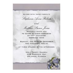 """Discount DealsLavender Hydrangeas Wedding Invitation, """"Vintage""""so please read the important details before your purchasing anyway here is the best buy"""