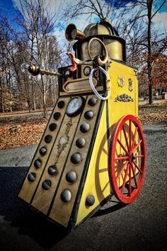 Dalek drive-able and signed by the 5th Doctor (Peter Davison) ~ Dave Lee