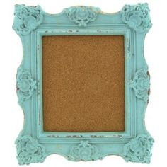 """Pin up tickets from a favorite concert, fun photos with friends and more on this 10"""" x 12"""" turquoise cork board. 