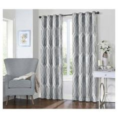 Eclipse Curtains Caprese Thermalayer Blackout Single Curtain Panel Size: W x No Sew Curtains, Curtains Living, Grommet Curtains, Window Curtains, Short Curtains, Purple Curtains, Striped Curtains, Double Curtains, Bedroom Curtains