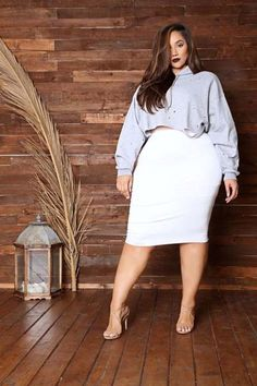 Graceful Dress For Plus Size Women. Cute plus size outfit. plus size styles, outfits plus size fall, plus sized clothing. Dress and Party wear. White Plus Size Dresses, Outfits Plus Size, Dress Plus Size, Curvy Outfits, Fashion Outfits, Plus Size White Outfit, Womens Fashion, Fashion 2017, Fashion Tips