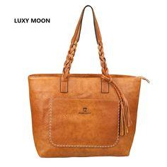 Vintage Tassel Shopper Tote Handbag //Price: $34.98 & FREE Shipping //     }