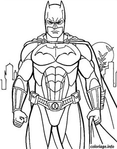 Coloriage Batman de face Dessin à Imprimer