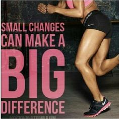 Small changes #fitness http://weightlosswire.org