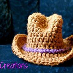 Wide Brim Cowboy Hat Stitch Gage 13 SC = 4 1/2 inches 6 rows = 2 inches Materials Bernat Super Value Yarn, medium/4 Hook J Stitch ...