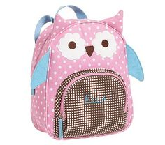 I love the Owl Preschool Backpack on potterybarnkids.com PERFECT!