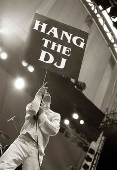 Morrissey on stage with The Smiths at the GMEX centre (now Manchester Central), Manchester, England, during the Festival of the 10th Summer on July 19, 1986 -- photo by Ian Tilton.