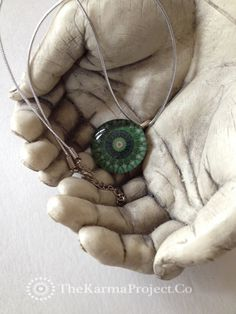 Mandala Pendant Yoga Jewelry Anahata Heart by TheBeautifulLife