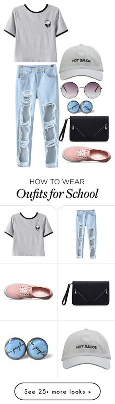 """after school programs"" by jillianelizabeth13 on Polyvore featuring Chicnova Fashion, Vans and Monki"