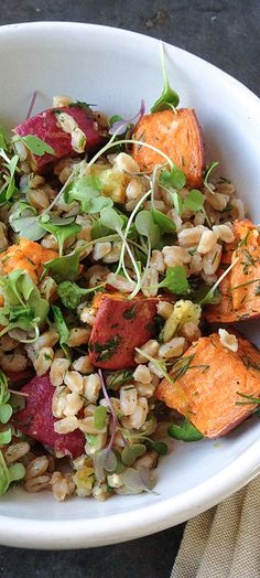 You have to try this super yummy farro salad recipe from one of our connections.