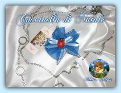 COCCINELLA NATALIZIA...per appendere all'albero di Natale, fissata su di una stellina argentata. https://www.facebook.com/LeBamboleDiMoiraSolena/?pnref=story