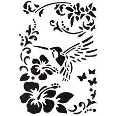 Stencil Desen Hazır Şablon 21x29 cm
