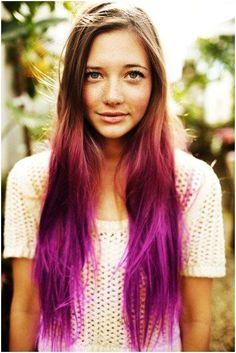 DIY colored hair with hair chalks