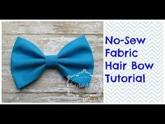 "HOW TO: Make a 5"" No Sew Fabric Hair Bow by Just Add A Bow - YouTube"