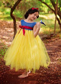 Snow White Luxury Princess dress Flower by MimozaLuxuryHandKnit