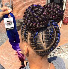 ριитяєѕт | @Jαℓα1205❤️ Black Girl Braided Hairstyles, Black Kids Hairstyles, Natural Braided Hairstyles, Twist On Natural Hair, Braids On Natural Hair, Fun Hairstyles, Short Hairstyles Over 50, Braids For Short Hair, Feed In Braids Bun